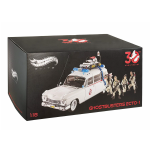 Hot Wheels 1:18 Elite Ghostbusters Ecto-1 30th Anniversary Edition with Figures